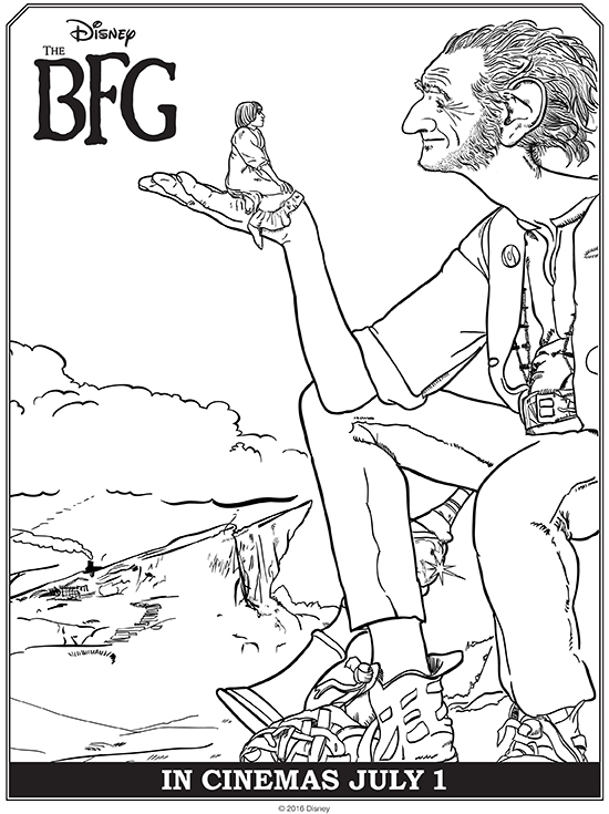 The BFG is a Must-See + Free Printable Coloring Pages