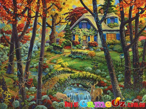 kids pretend kitchen backslash countryside cottage sunsout jigsaw puzzle 300pc by joseph ...