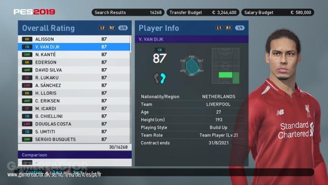 《實況足球2019》當中,百大最佳球員名單如下 - Pro Evolution Soccer 2019 - Gamereactor