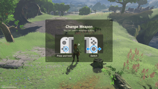 Image result for zelda botw controls in game