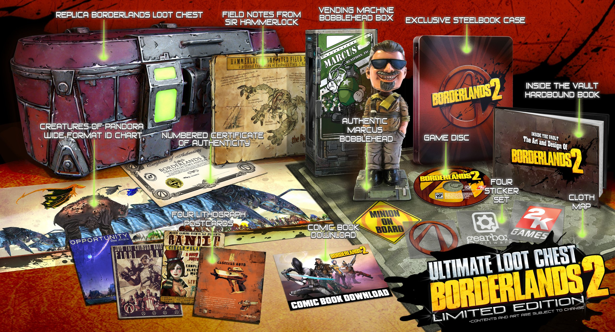 Borderlands 2 Ultimate Loot Chest Limited Edition Release Date Xbox 360 PS3 PC