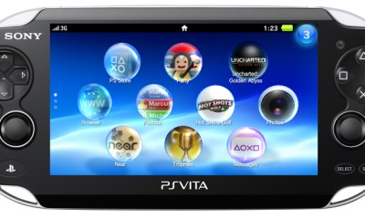 Vista frontal de la PS Vita