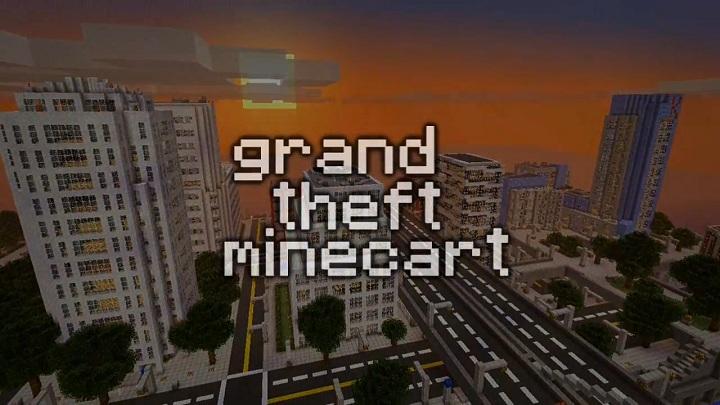 One block man · 6. Así se ve el trailer de Grand Theft Auto V en Minecraft