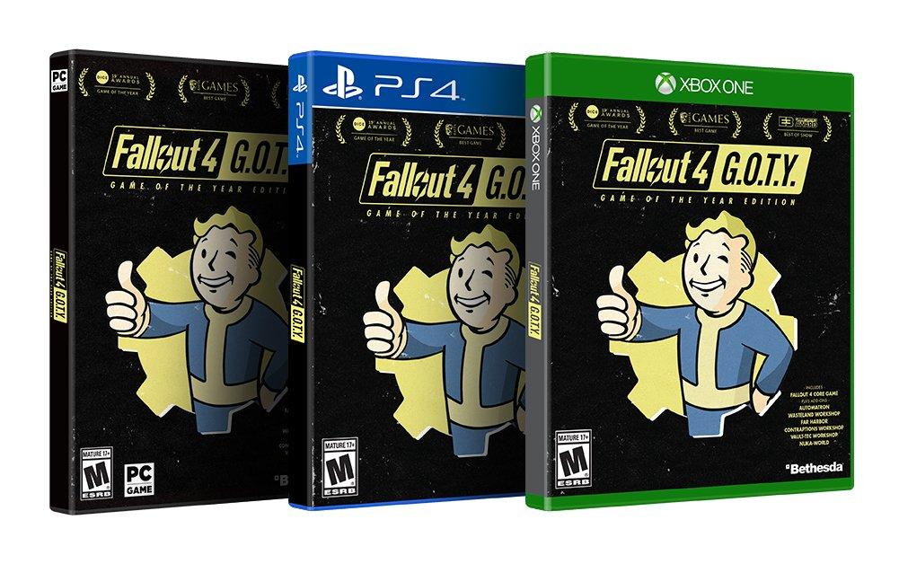 Fallout 4: Game of the year Edition, ya tiene fecha de lanzamiento
