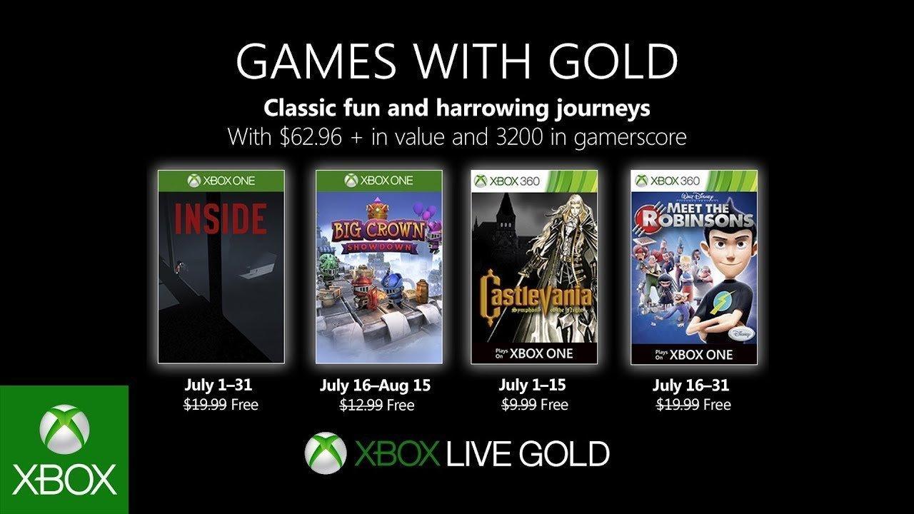 Anunciados los Games With Gold de julio de 2019