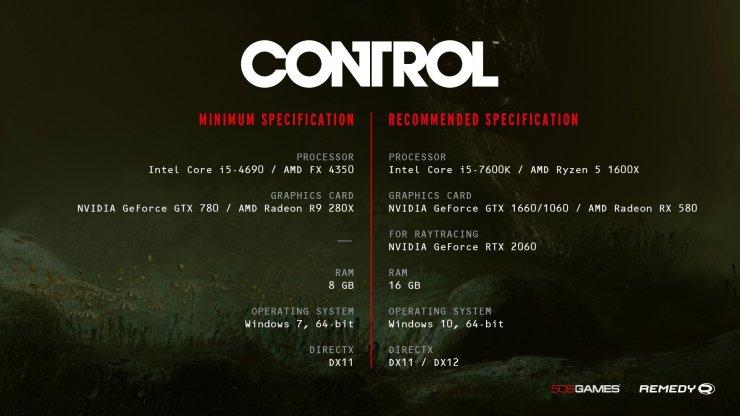 Control - requerimientos