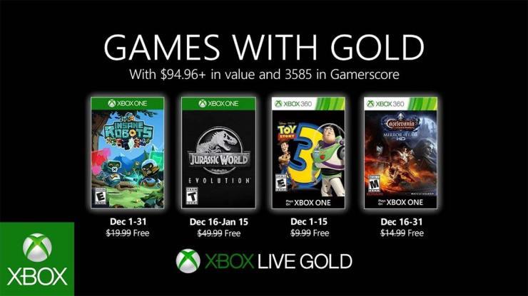 Games With Gold - Xbox Live Gold - Diciembre 2019