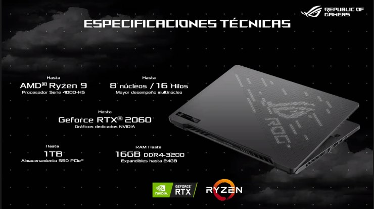 ROG  Zephyrus G14 colombia