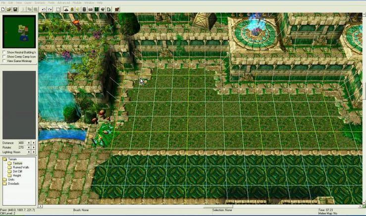 Editor de mapas de Warcraft III