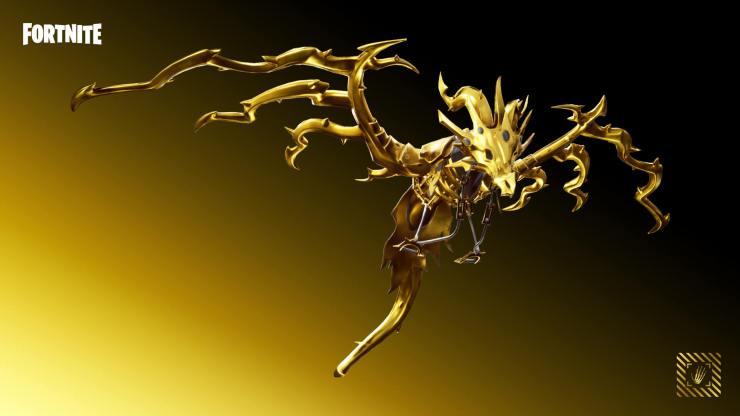 Fortnite Oro planeador dracorazado