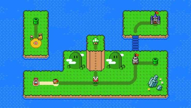 Mario Maker creador de mapas