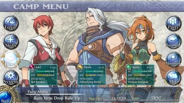 Un total de tres personajes pueden ir al campo de batalla. Puede intercalarse el control entre ellos en cualquier momento.