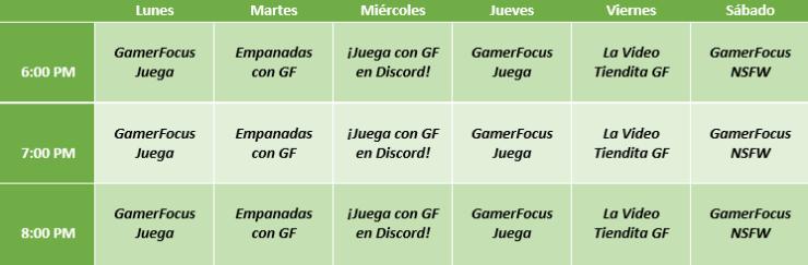 GamerFocus - GF - programación