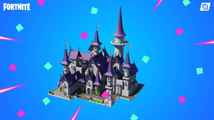 castillo de princesa fortnite
