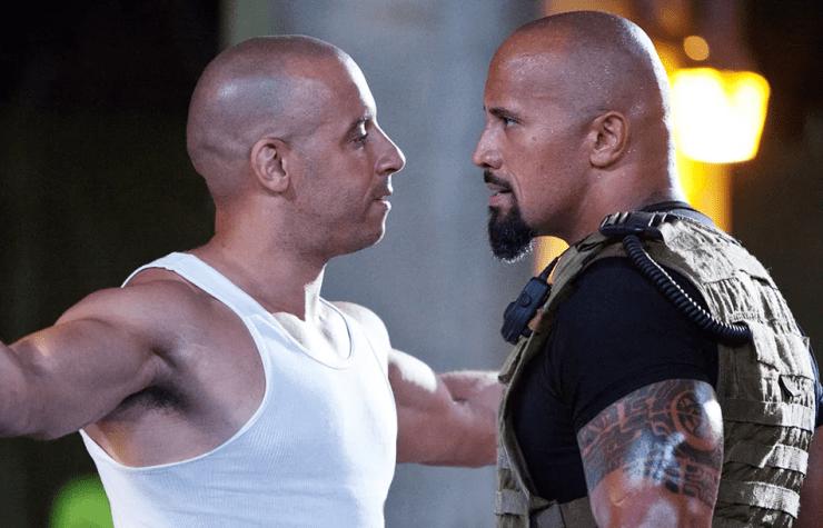 Rápidos y Furiosos 9 La Roca regreso de han Vin Diesel Dwayne Johnson