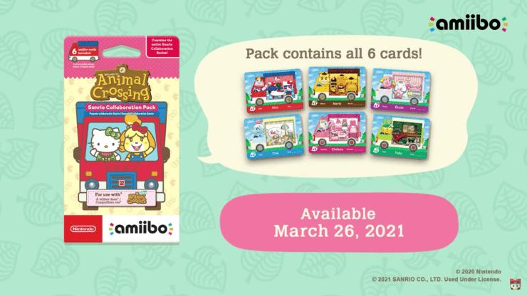 Animal Crossing: New Horizons sanrio cartas amiibo