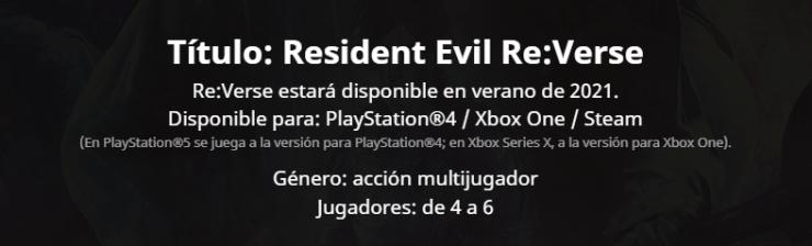 La fecha de lanzamiento de Resident Evil Re:Verse ha sido aplazada aplazado Village