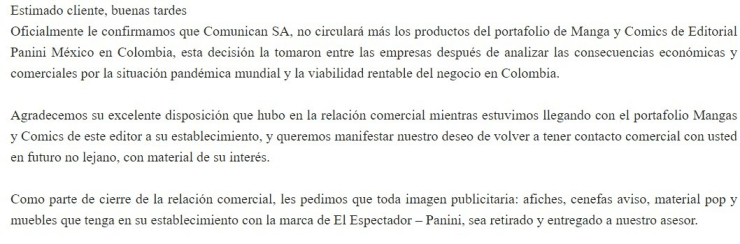Editorial Panini Manga Cómics Colombia