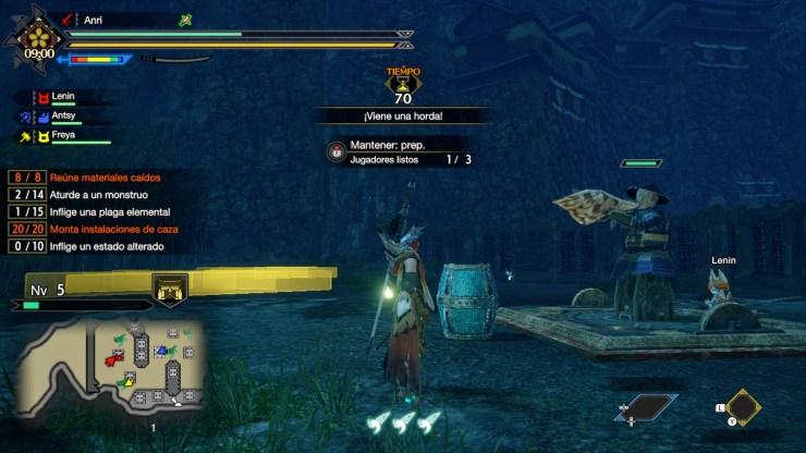 monster hunter rise guía armas misiones del frenesí