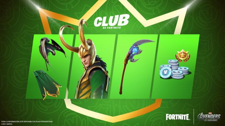 Club Fortnite julio 2021 Loki Marvel