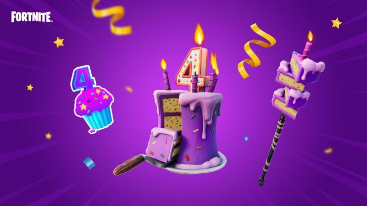 Así celebrará Fortnite el cuarto aniversario de Batalla Campal cumpleaños 4 recompensas eventos cosméticos misiones