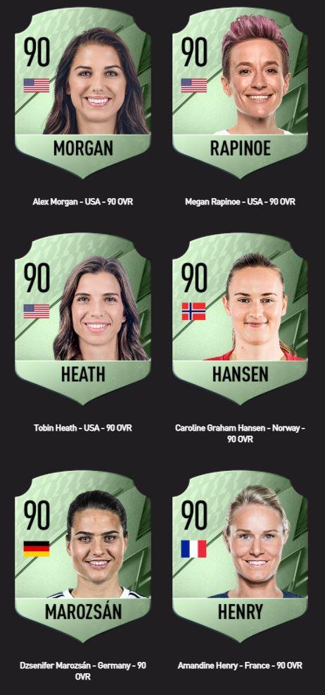FIFA 22: las jugadoras mejor calificadas y vista previa de los paquetes FUT
