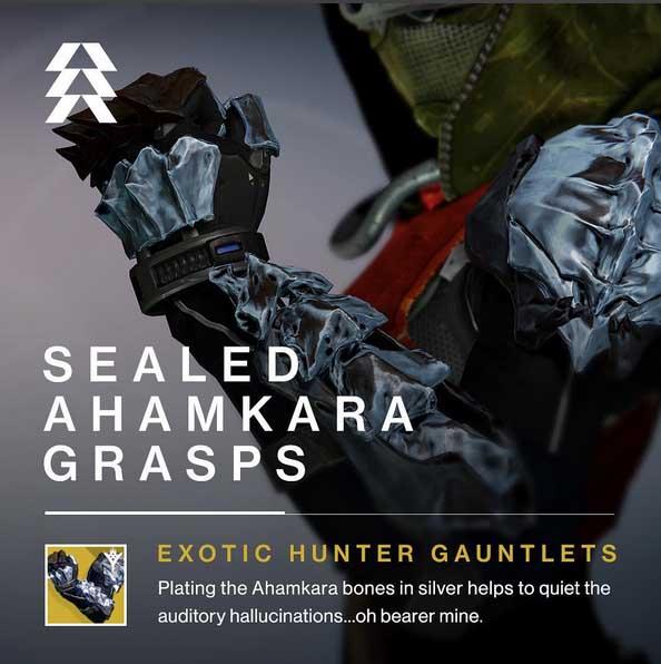Sealed Ahamkara Grasps Exotic Hunter Gauntlets Destiny The Taken King Inventory