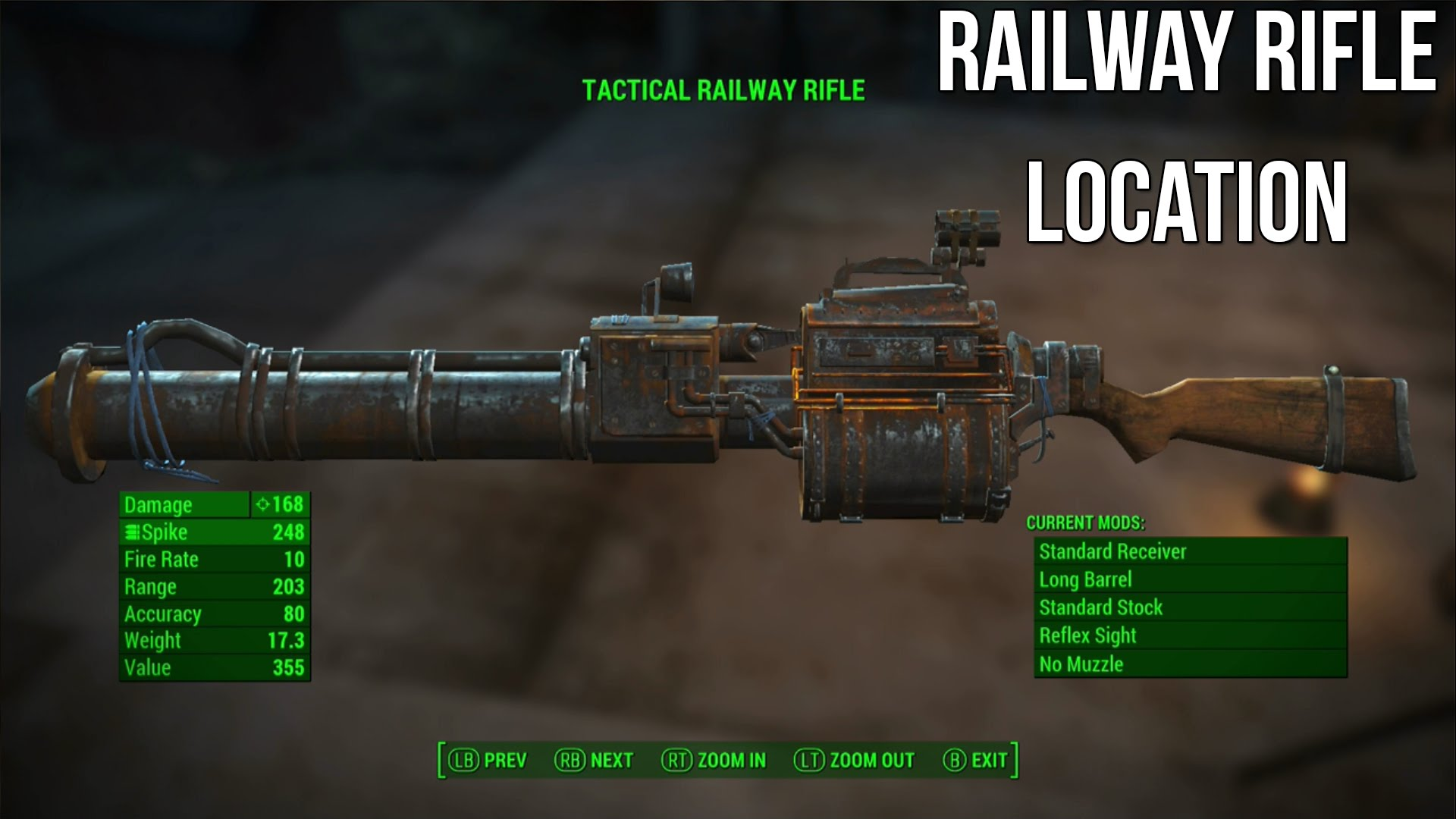 Fallout 4 Railway Rifle Secret Weapon Location – GamerFuzion