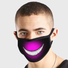Anime Kawaii Emote Evil Smile Non Medical 3 Ply Face Mask