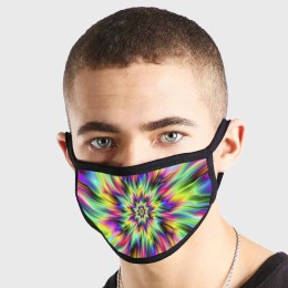 Pattern 70s Tie Die Acid Non Medical 3 Ply Face Mask