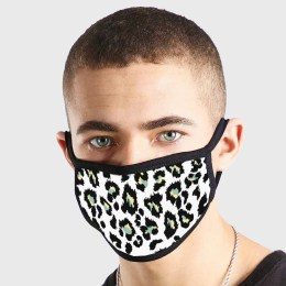 Pattern Animal Skin White Black Non Medical 3 Ply Face Mask