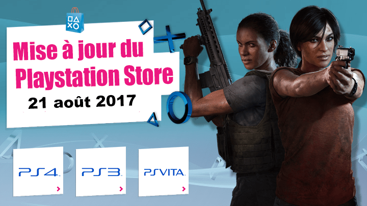 Playstation Store : Mise à jour du 21/08/2017