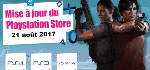 Playstation Store mise à jour du 21 août 2017