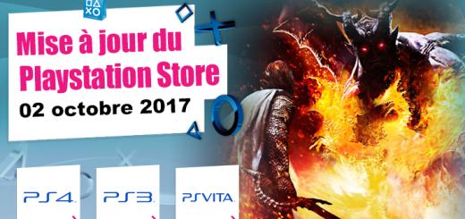 Playstation Store mise à jour du 02 octobre 2017