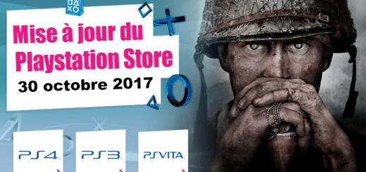 Playstation Store mise à jour du 30 octobre 2017