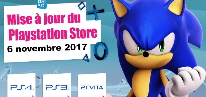 Playstation Store mise à jour du novembre 2017