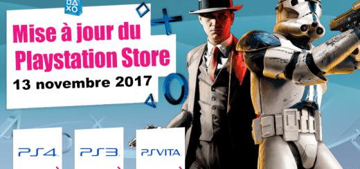 Playstation Store mise à jour du 13 novembre 2017