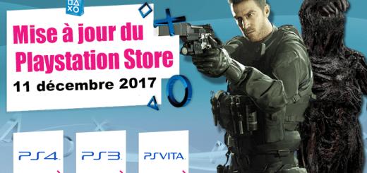 Playstation Store mise à jour du 11 décembre 2017