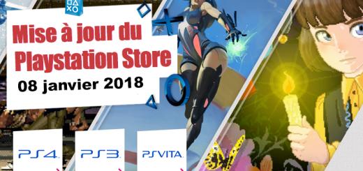 Playstation Store mise à jour du 8 janvier 2018