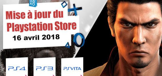 Playstation Store mise à jour du 16 avril 2018