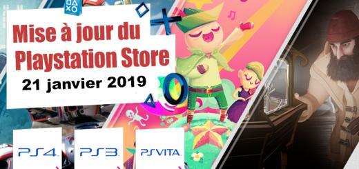 Playstation Store mise à jour 21 janvier 2019