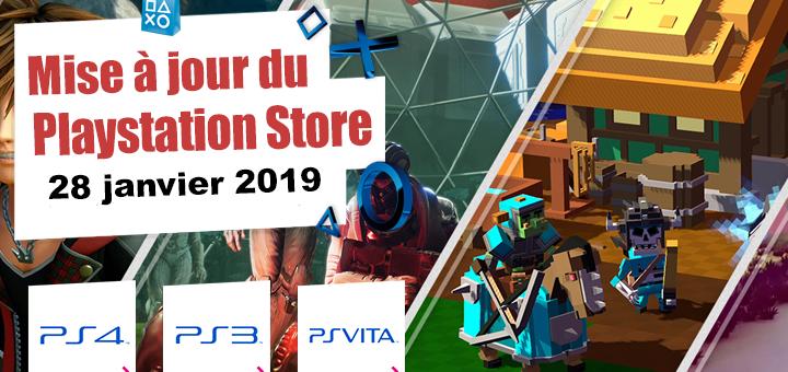 Playstation Store mise à jour du 28 janvier 2019