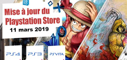Playstation Store mise à jour du 11 mars 2019