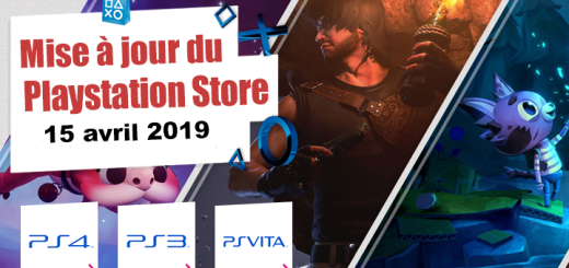 Playstation Store mise à jour du 15 avril 2019