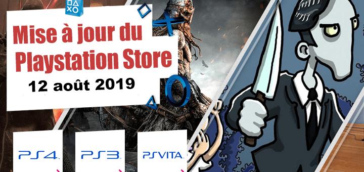 Playstation Store mise à jour du 12 août 2019