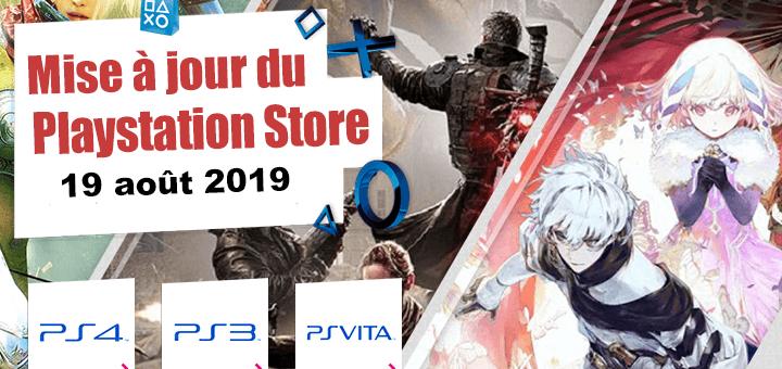 Playstation Store mise à jour du 19 août 2019