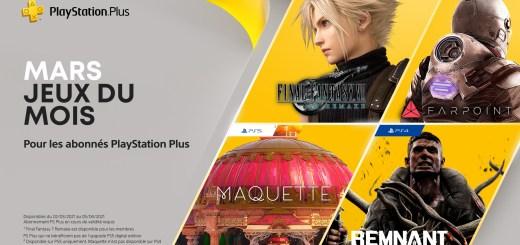 Playstation Plus mars 2021