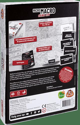Micro macro crime city achterkant doos