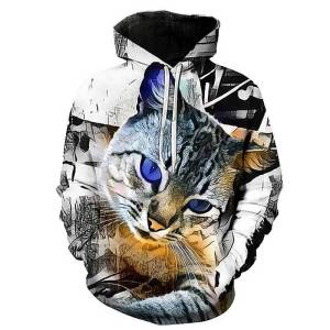 gamer-protocol-kitty kitty cat hoodie - Front