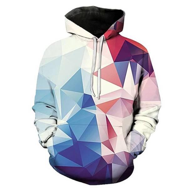 gamer-protocol-polygonal hoodie - Front